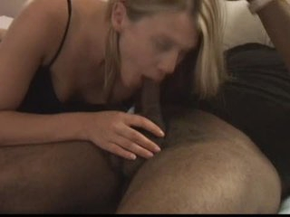Nice Looking Golden-haired Gets Fucked and Creampied by Her First Black lover.elN