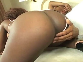 Ebony slut fucks big hard cock with her sweet cum-hole
