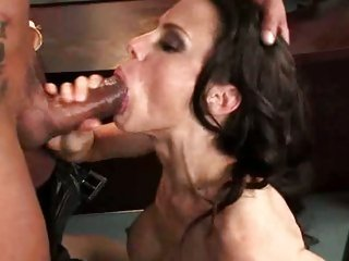 Filthy whore Mckenzie Lee stuffs a mouthwatering cock in her box til she chokes
