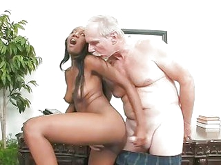Young Ebony Slut Bonks The Old Dean