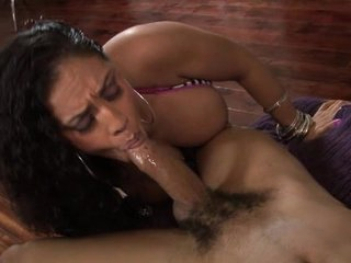 Ice La Fox takes her time licking and sucking on this cock until she gets it