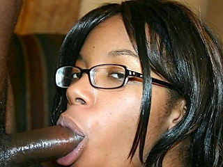 Strokahontas is a pretty ebony in geeky reading glasses. Don't be...