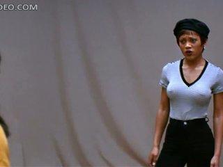 Beautiful Ebony Babe Theresa Randle Doesn't Like Wearing Bra