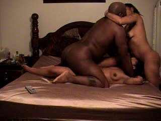 Black Non-professional Threesome