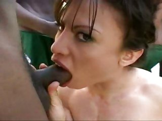 Sexy bitch Jayna Oso getting several black 10-Pounder shoveds down her throat