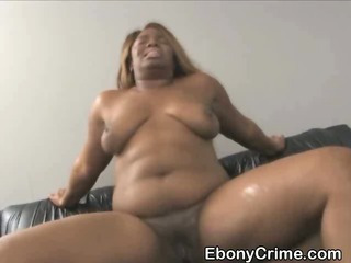Chubby Black Chick With Big Tits Fucked Roughly From Behind