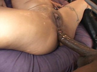 Big black dick & creampie for ebony hoe