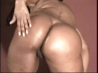 Thick Black Chick Licks Big Oily Tits Ass and Pussy - Ameman