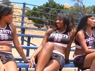 Black Lesbo Hunters, Hot CheerleadersThreesome