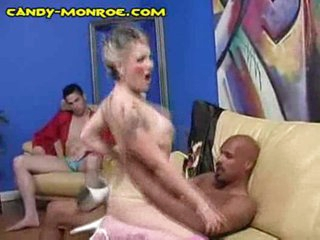Cuckold cleans black load