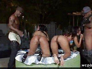 Hot black foursome part1