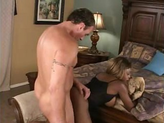 Very horny guy is destroying nice ebony wazoo with his immense tool