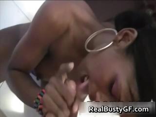 Busty Latina girlfriend suprised part5