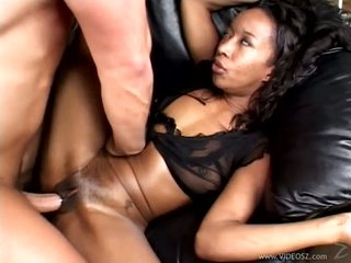 Lewd ebony whore Stacey Cash gets her tight moist pussy fucked hard and coarse