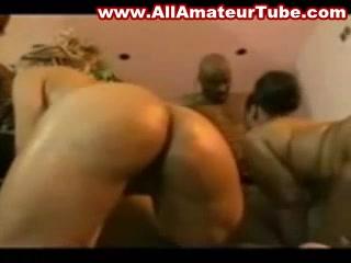 Orgy with ebony BBW