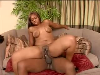 Corpulent black girl with a hairy love tunnel fucked hard
