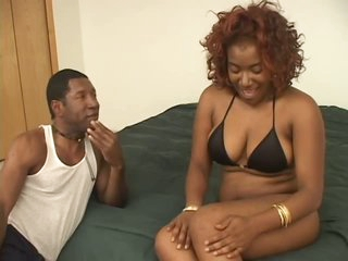 Naturally Breasty Black Babe Renea Jacobs Gets a Shaving and a Hawt Fuck