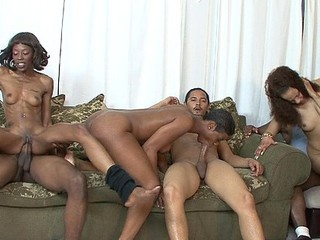 Dariel Dukes, Destiny Day, Honey Berry, Jessica Bad Whore, Lexi Moore, Luxury Play, Porche Carrera, Red Royal, and Tia Freaxx kept themselves busy this day.  There were plenty of meat puppets to go around for those horny black chicks and they kept 'em all satisfied.