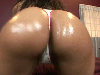 With a large bouncy butt like Milian's moist creamy darksome booty, that babe merits to be recognized as a super butt hero! That Babe comes in to kick some wazoo and shake it too! There is no stopping this gorgeous piece of darksome booty from taking over any cock! Milian Blu uses her slippery wet tongue to tease and to please!!!
