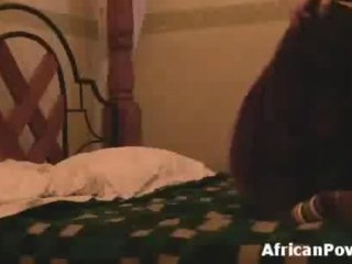 Thick ass African slut banged by sex tourist on bungler tape