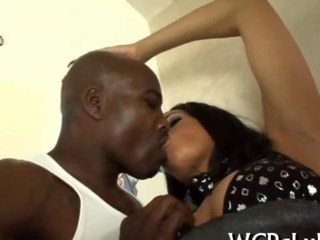 Babe gets ass cumcovered black 7
