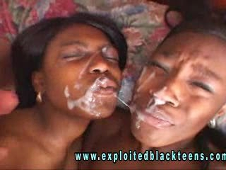 black girls play with each other and white cock
