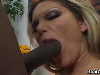 Sexy breasty slut Anna Nova interracial sex