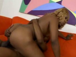 Ebony with big ass rides cock