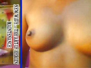 Teen Cutie Ebony Angel's Hot Webcam Show