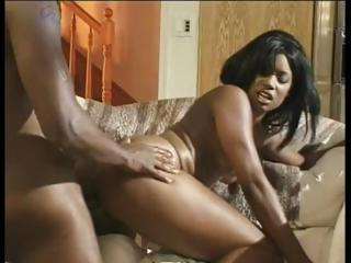 Lexington Steele and his monster cock fuck a darksome girls ass