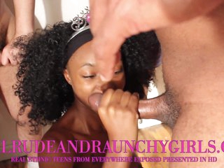 Real Rude And Raunchy Black Legal age teenager Ganbang By 5 Guys