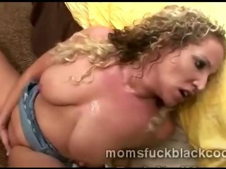 Terribly lustful mature golden-haired doxy gets drilled by big black fellow