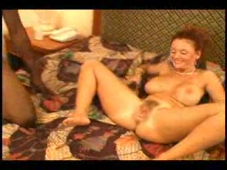 Ebony guy presents slut with creampie