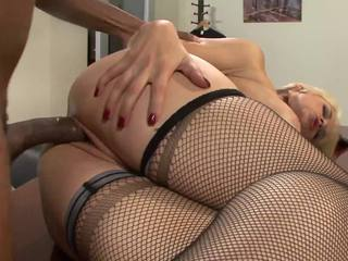 It's time for a white gal to get banged like a slut, and Sarah Sloane is the perfect gal.  With her ultra unfathomable face hole and soaking juicy cum-hole, Sarah is a dream cum true for fans of interracial sex.  Her much loved position is when that babe's bent over a table and getting slammed from the rear.