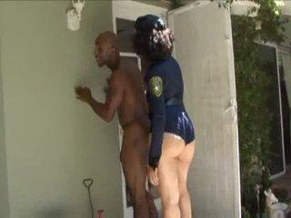 Lascivious cop sucks a big black weenie