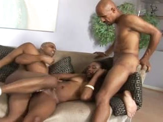 Sexy black girl with hawt body nailed by cocks
