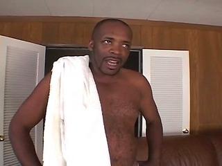 Hot body ebony hottie derailed by big black cock