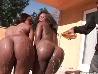 Cum lover Janea Jolie gets that sexy butt oozing with milky man cream