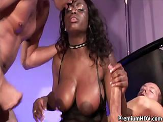 Black breasty Jada double banged