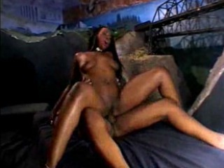 Whore with dangling tits gets warm sperm