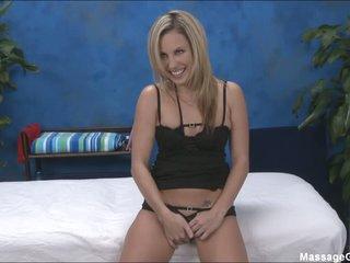 Blonde girl Kiara in darksome panties