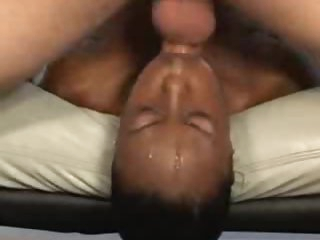 Filthy face fuck and gagging with black girl